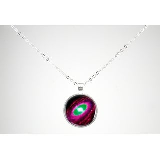 Be The Envy Purple Green Centered Galaxy Necklace