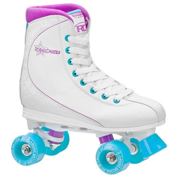 Rollar Derby Women's Roller Star 600 White/Purple/Baby Blue Quad Skate