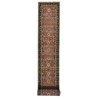XL Runner Handmade Antiqued Tabriz Vegetable Dyes Rug (2'7 x 19'9)