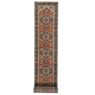 XL Runner Handmade Antiqued Heriz Recreation Oriental Rug (2'7 x 19'8)