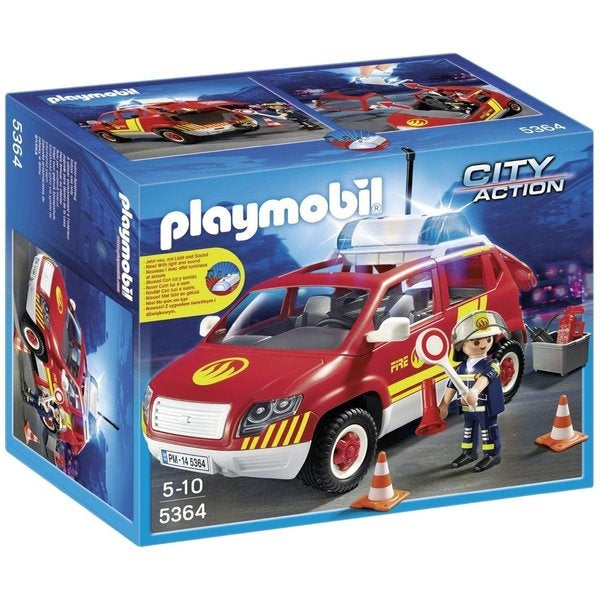 Playmobil City Action Fire Chief's Car with Lights and Sound