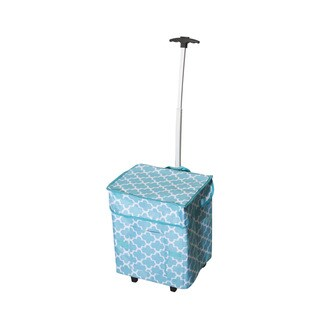 As Seen On TV Moroccan Tile Trendy Smart Cart Rolling Shopper Tote
