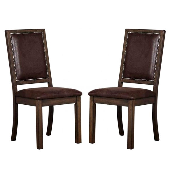 Canopy Rustic Dining Chairs With Nailhead Trim Set Of Free