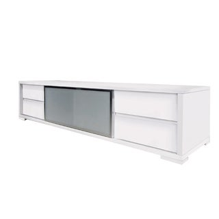 PINETO Collection High Gloss White Lacquer  Entertainment Center by Casabianca Home