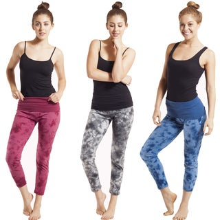 Organic Cotton Tie-Dye Cropped Yoga Leggings (Nepal)
