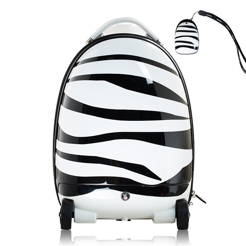 Best Ride On Cars Remote Control Zebra Suitcase (White)