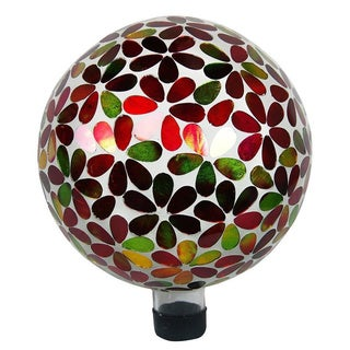 10-inch Multicolor Flowers Gazing Globe