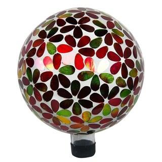 10-inch Multicolor Flowers Gazing Globe