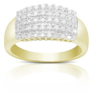 Finesque Sterling Silver 1/2ct TDW Diamond Ring