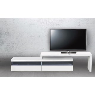 EASY Collection High Gloss White Lacquer Entertainment Center by Casabianca Home