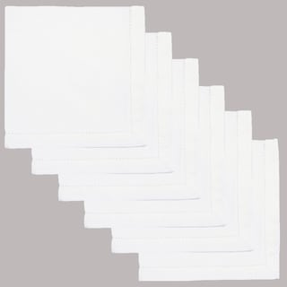Hemstitch Napkins 100-percent Cotton White (Set of 6)