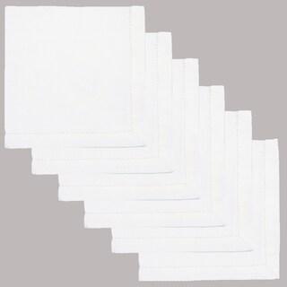 Hemstitch Napkins 100-percent Cotton White (Set of 6)