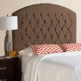 Humble + Haute Halifax Tall Dark Chocolate Curved Upholstered Headboard