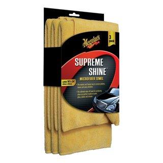 MEGUIAR'S SUPREME SHINE MICROFIBER TOWEL - 3 PACK