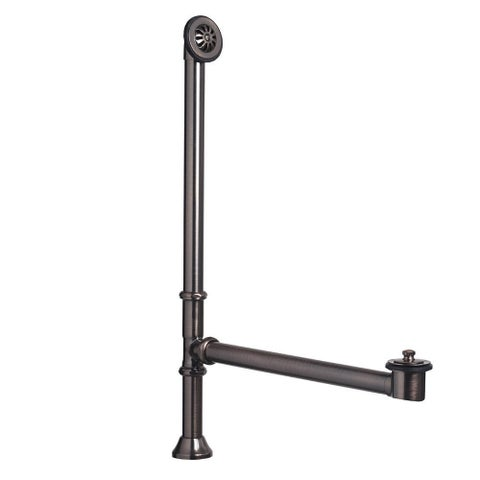"""Sinkology 1.5"""" OD Brass Lift and Turn Bathtub Drain and Overflow Kit in Oil-Rubbed Bronze Finish"""