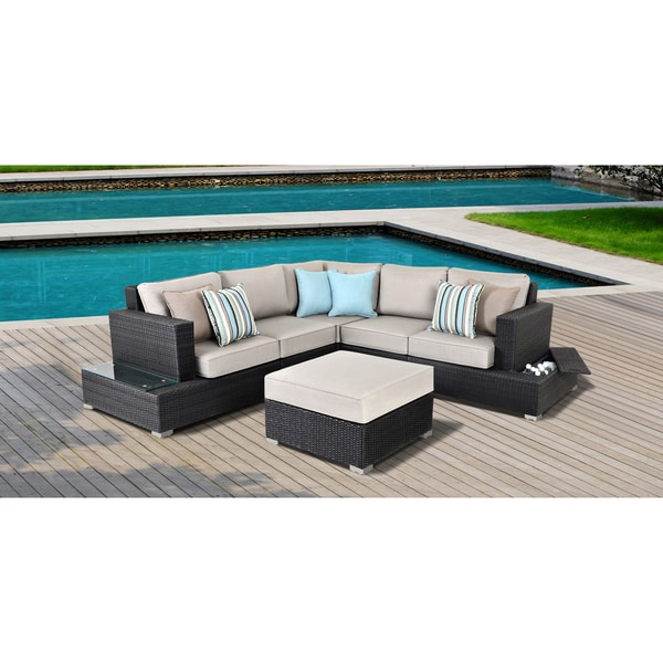 Superbe OVE Decors Monterrey 6 Piece Outdoor Sectional Furniture Set
