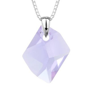 Pori Sterling Silver Violet Austrian Crystal Cosmic Pendant
