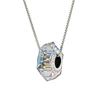 Pori Sterling Silver Austrian Crystal AB BeCharmed Fortune Chain Necklace