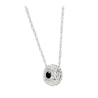 Pori Sterling Silver Crystal Elements BeCharmed Pave Clear Crystal Chain Necklace