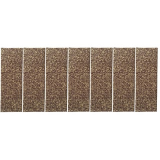 """Affordable Set of 7 Skid-resistant Rubber Backing Non-slip Carpet Stair Treads-Machine Washable (8.5"""" x 26.5"""")"""