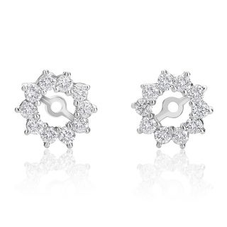 SummerRose 14k White Gold 7/8ct TDW Diamond Stud Earring Jackets ( H-I, SI1-SI2)