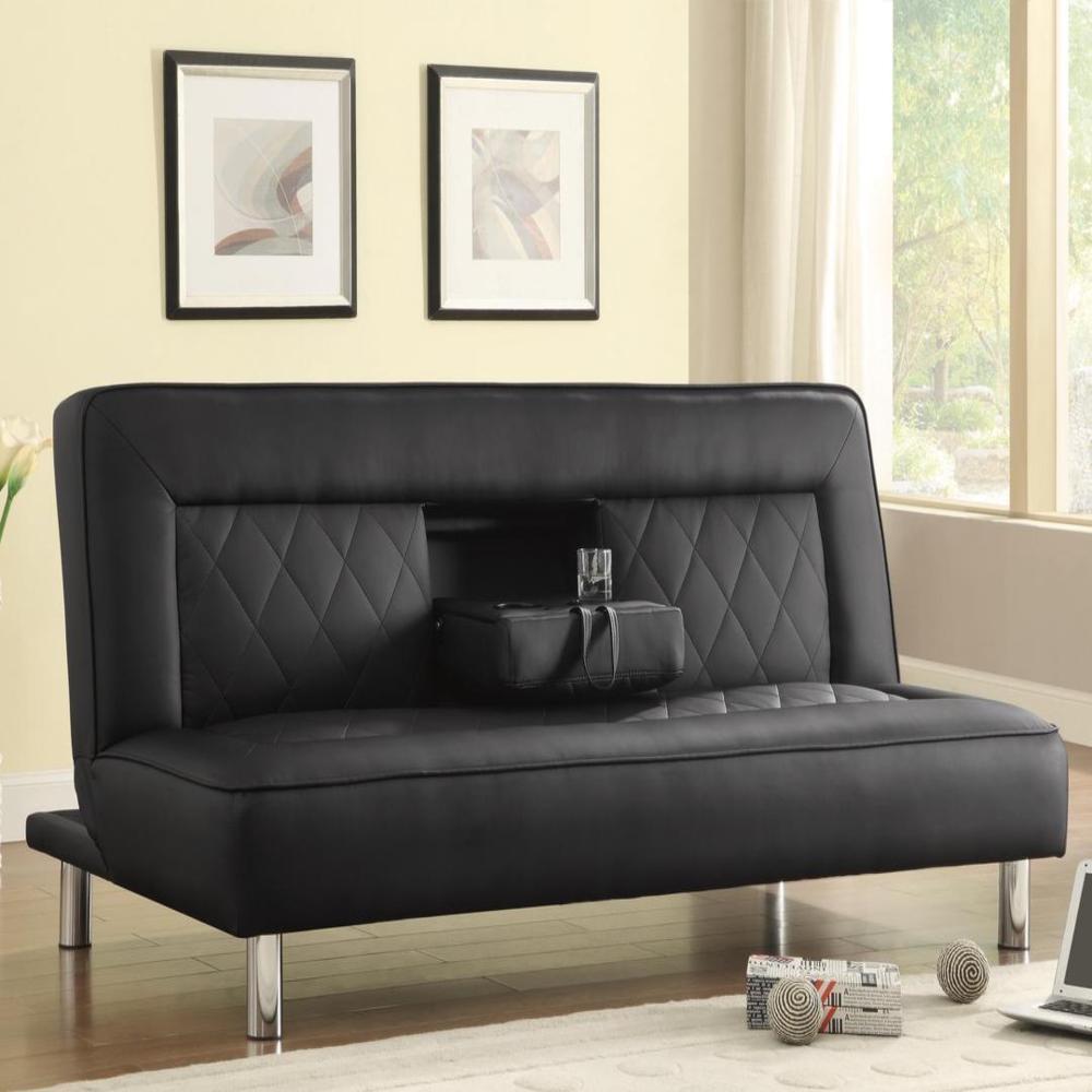 Garrick Sofa Bed (Garrick Black Sofa Bed), Size Full (Chr...