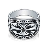 Cobalt Men's Diamond Accent Black Inlay Ring