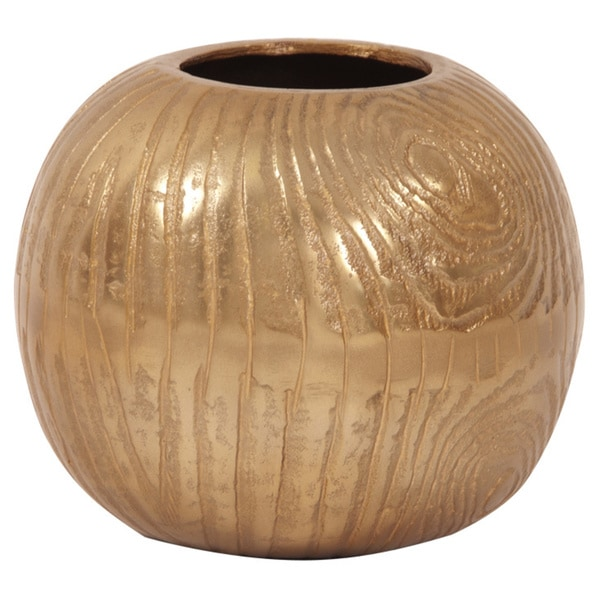 Allan Andrews Textured Gold Small Round Vase