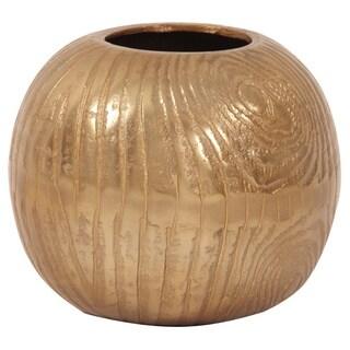Allan Andrews Textured Gold Small Round Vase