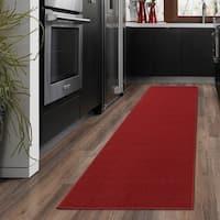 Ottomanson Ottomanson Red Aisle Hallway Runner Rug (1'8 x 4'11) - 1'8 x 4'11