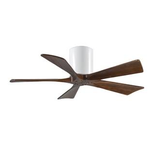 Matthews Fan Company Irene-5 Hugger 42-inch 5-blade Paddle White Ceiling Fan