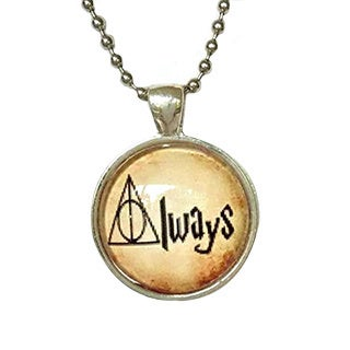 Atkinson Creations Harry Potter Insprired 'Always' Glass Dome Pendant Necklace