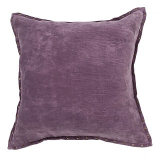 Handmade Solid Pattern Cotton 22-inch Pillow (Set of 2)