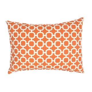 "Handmade Geometric Pattern Polyester Throw Pillow 13""x18"" (Set of 2)"