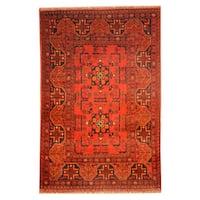 Handmade Herat Oriental Afghan Khal Mohammadi Wool Rug  - 3'3 x 4'10 (Afghanistan)