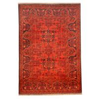 Herat Oriental Afghan Hand-knotted Khal Mohammadi Wool Rug (3'3 x 4'9)