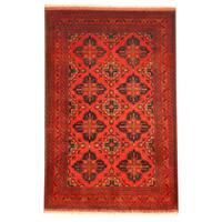 Handmade Herat Oriental Afghan Khal Mohammadi Wool Rug  - 3'2 x 4'10 (Afghanistan)