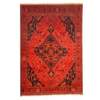 Handmade Khal Mohammadi Wool Rug (Afghanistan) - 3'3 x 4'9