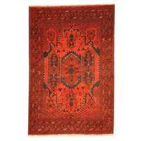 Herat Oriental Afghan Hand-knotted Khal Mohammadi Wool Rug (3'3 x 4'10)