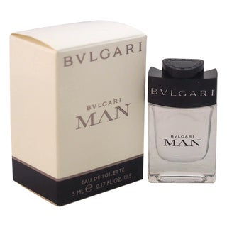Bvlgari Man Men's 0.17-ounce Eau de Toilette Splash (Mini)