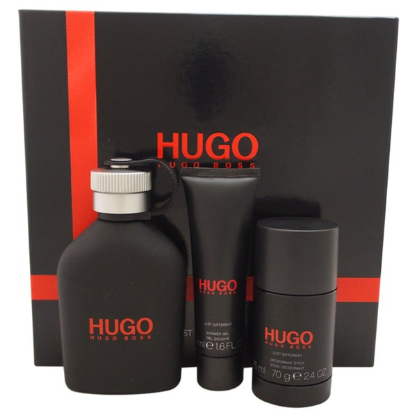 c5dcc78ae344 Shop Hugo Boss Just Different Men s 3-piece Gift Set - Free Shipping Today  - Overstock - 10514705