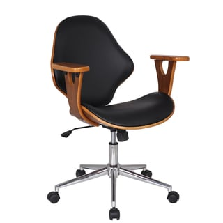 Adeco Bentwood Arm Rest Adjustable Height Swivel Desk Chair