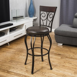 Corvus Kenzie High Circle Back 30-inch Bar Stool