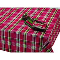 Tango Red Plaid Tablecloth