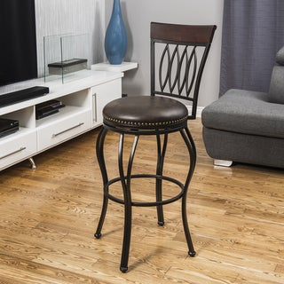 Corvus Royan High Leaf Back 30-inch Bar Stool