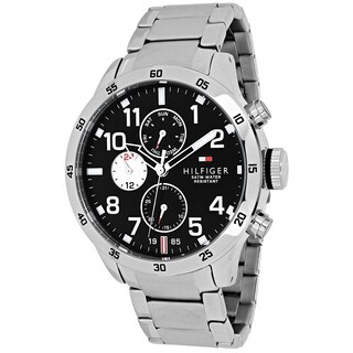 Tommy Hilfiger Men's 1791141 Sport Round Silvertone Stainless Steel Bracelet Watch