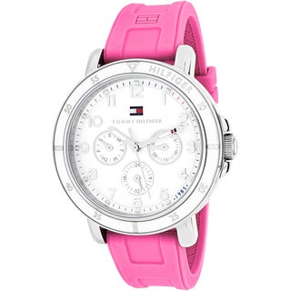 Tommy Hilfiger Women's 1781510 Sport Round Pink Rubber Strap Watch