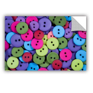 ArtAppealz Dan Holm 'Buttons' Removable Wall Art