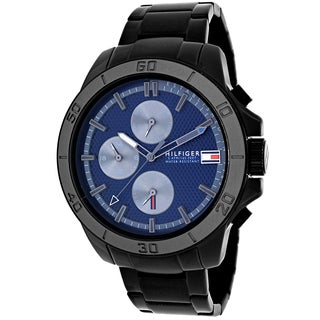 Tommy Hilfiger Men's 1791167 Jace Round Black Ion-Plated Stainless Steel Bracelet Watch