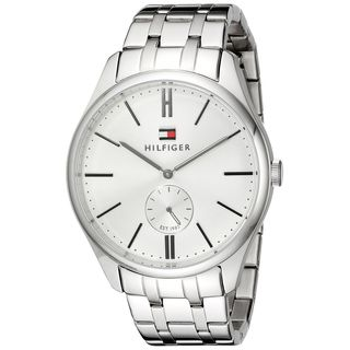 Tommy Hilfiger Men's 1791172 Curis Round Silvertone Stainless Steel Bracelet Watch